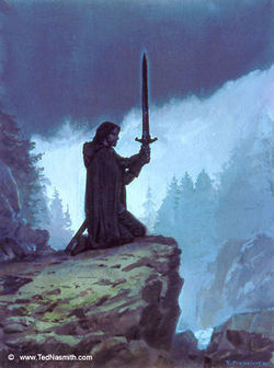 Ted Nasmith - Túrin Prepares to Take His Life.jpg
