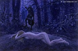Ted Nasmith - Túrin Discovers Nienor at the Mound of Finduilas.jpg