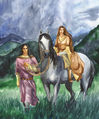 Marya Filatova - Fingon with his fiancee.jpg