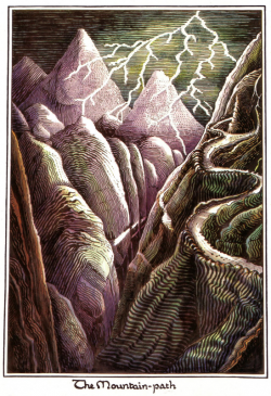 J.R.R. Tolkien - The Mountain-path (Colored by H.E. Riddett).png