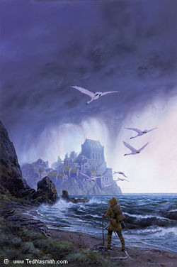 Ted Nasmith - Tuor is Led by the Swans to Vinyamar.jpg