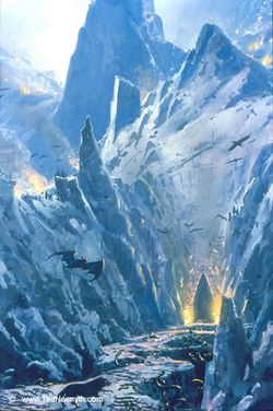 Ted Nasmith - Beren and Lúthien Approach Angband.jpg