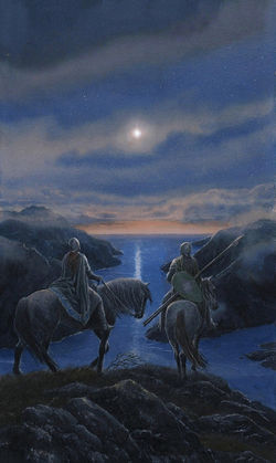 Alan Lee - Surely that is a Silmaril that shines now in the West.jpg